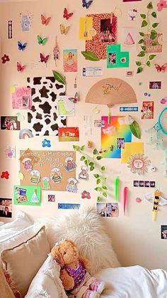 Indie Bedroom, Indie Room Decor, Bedroom Decor For Teen Girls, Room Ideas Bedroom, Chambre Indie, Photo Room, Cute Room Ideas, Aesthetic Room Decor, Dream Rooms