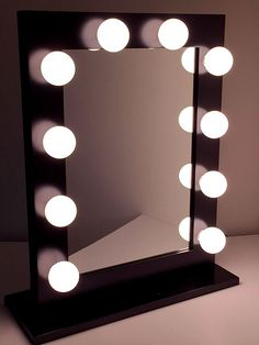 """Have you seen our """"Hollywood Chic Vanity Mirror with big Globe Lights"""" ? Visit us at www.ImpressionsVanity.com for more colors and product details. #vanitylights #vanitymirror"""