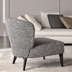 Minotti Aston armchairs are created and designed to compliment the Minotti Collections for residence or hospitality. All Minotti armchairs, sofas and furniture is designed and Made in Italy.To find out more contact the Minotti Showroom on 020 7323 3233 Sofa Design, Canapé Design, Interior Design, Sofa Lounge, Sofa Chair, Armchair, Sofa Furniture, Modern Furniture, Furniture Design