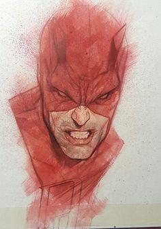 Daredevil by Ben Oliver * Game Character Design, Comic Character, Comic Book Covers, Comic Books Art, Daredevil Punisher, Wolverine, Ben Oliver, Marvel Comics Art, Graphic Artwork