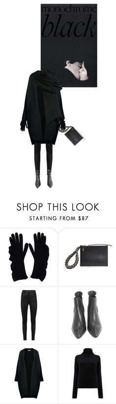 """All Black"" by sharmarie ❤ liked on Polyvore featuring Laneus, Rick Owens, Manokhi, Jil Sander and Haider Ackermann"