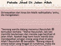 DENGAN BERDIAM DI RUMAH, WANITA JUGA BISA MENDAPATKAN PAHALA JIHAD DI JALAN ALLAH Doa, Islamic Quotes, Allah