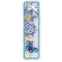 Vervaco Counted Cross Stitch Bookmark Kit. Hydrangea 2.