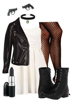 """""""Bride of Chucky costume idea"""" by missnobody-297 ❤ liked on Polyvore featuring Vince Camuto, TFNC, Pull&Bear, Naughty Monkey, Topshop and M.A.C"""