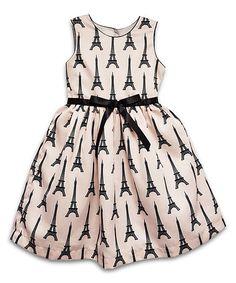 Look at this #zulilyfind! Pink Eiffel Tower Satin Dress - Toddler & Girls #zulilyfinds