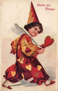 Old Postcard - Girl in Pierrot Costume - The Graphics Fairy Valentine Images, Vintage Valentine Cards, Vintage Greeting Cards, Valentines For Kids, Funny Valentine, Valentine Day Cards, Holiday Cards, Pierrot Costume, Pierrot Clown