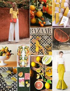 Citrus Inspiration Board   Camille Styles