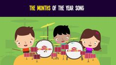 "Stream ""Month of the Year"" song in your preschool classroom! #months #kidsmusic #preschool"