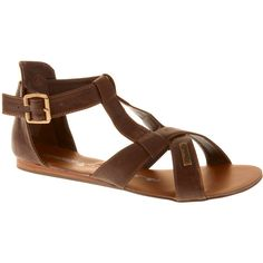 Glorious Shoes Brown Glorious Hawaii Sandals ($51) ❤ liked on Polyvore