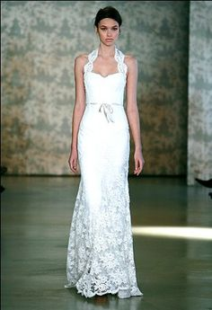 wedding dresses for second marriage over 40 | Monique Lhuillier