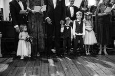 Such a perfect moment captured of the kids being kids at this formal chapel ceremony   Julia Archibald Wedding Photography