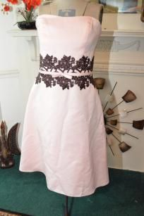 Elegant Size 4 Vintage Pink Wedding Bridesmaids or Prom dress
