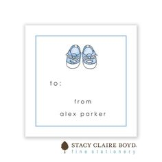 Stacy Claire Boyd | Baby Steps - Blue Folded Enclosure Card