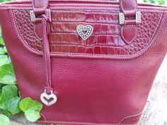 FESTIVE RED!!! RIGHT IN TIME FOR THE HOLIDAYS!!! Brighton handbag purse vintage red leather by OutOfMyMamasAttic, $69.99