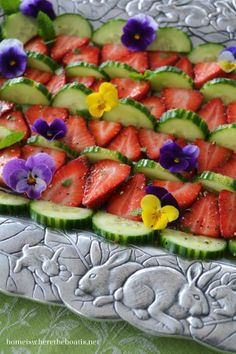 Cucumber and Strawberry Salad / Lunching with Bunnies | Home is Where the Boat Is