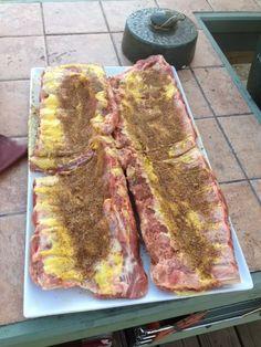 Big T's Big Green Egg Recipe Blog: Pork Ribs 2.5 - 25 method