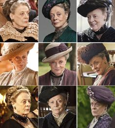 The beautiful Maggie Smith as Violet... Adore her wit for this character. So precise.