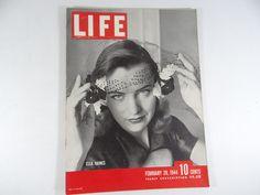 1944 Life Magazine Wartime Issue, February 28,  Ella Raines – Bombing of Berlin – Charles Chaplin
