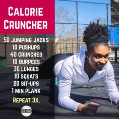 Get your heart pumping, body sweating, and the muscles in your body burning with my calorie crushing workout! (at www.thegymhooky.com)