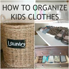 How to organize kids clothes + wear to find great deals on kids clothes!