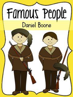 Daniel Boone Social Studies Clipart