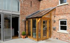 See this entrance porch design Porch Uk, Side Porch, House With Porch, House Front, Side Door, Front Porch, Garden Room Extensions, House Extensions, Porch Canopy
