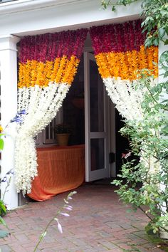 Wow, flower curtains!!