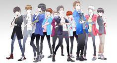 Anime version of Super Junior - Mr. Simple