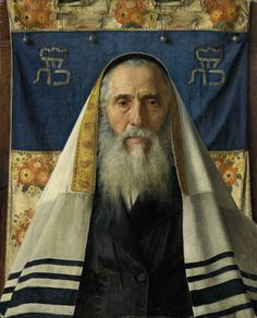 "tzilahjewishcultureandhistory: "" Isidor Kaufmann - Portrait of a Rabbi with a Prayer Shawl. "" Painting: Portrait of a Rabbi with Prayer Shawl by Isidor Kaufman (collection: portraits of elderly men)"