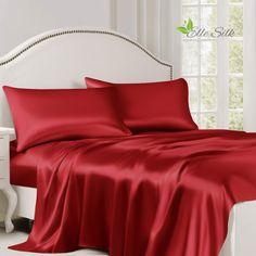 Silk Bed Sheets, Flat Sheets, Satin Bedding, Linen Bedding, Bed Linens, Bedding Sets, Luxury Bedding, California King, Designer Bed Sheets