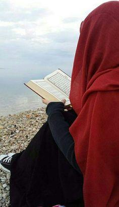 #red #Kuran #hijab #tesettür #girl