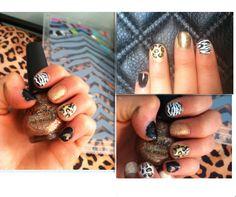 "khloe kardashian ""disco dollies"" inspired nails"