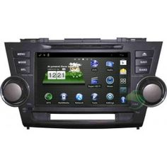 In Dash Head Unit Car Stereo Android Navigation System for Toyota Highlander 2008-2011 with 3G Wifi GPS DVD Bluetooth TV Radio-1