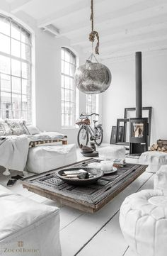 Use plain white interiors mix with stark contrasting texture like fabric, fur, wood and metal to create a simple yet striking Scandi inspired interior. Living rooms and bedrooms would be perfect for this look.