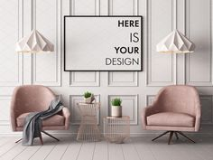 Mockups posters in the interior. 14 mockups posters in the interior style Art Deco. Pastel Interior, Interior Walls, Modern Interior Design, Interior Design Living Room, Interior Architecture, Interior Decorating, Modern Classic Interior, Color Interior, Simple Interior