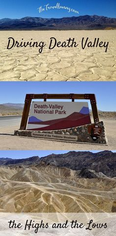 Highlights of a drive through Death Valley: