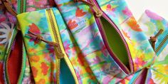 Vibrant floral textiles design homeware products  by Catrin Saywell