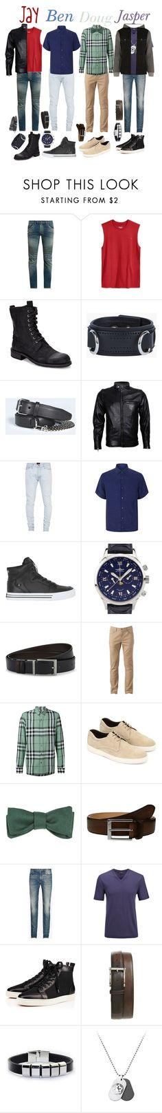 """Chilling with the Guys 2"" by keih95 ❤ liked on Polyvore featuring Balmain, Champion, John Varvatos, Dsquared2, VIPARO, Fear of God, Z Zegna, Supra, Balmer and HUGO"