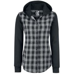 Hooded Checked Shirt by R.E.D. by EMP