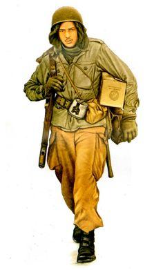 U.S. ARMY - Paracadutista della 101. Airbourne Division, Belgio, 1944