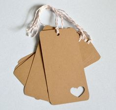 Kraft Gift Tags Set of 10 Handmade  Made to by PapercutExpressions, $4.00