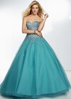 Newest floor length ball gown sweetheart lace up with beads turquoise tulle evening gown graduation party prom dresses 2014 Homecoming Dresses 2014, Mori Lee Prom Dresses, Best Prom Dresses, Ball Dresses, Ball Gowns, Aqua Dresses, Prom 2014, Grad Dresses, Mermaid Evening Dresses