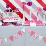 Pretty Pink Dessert Table from Celebrations at Home