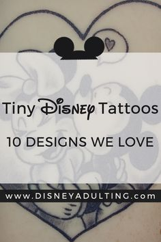 10 Tiny Disney Tattoos - Magical Disney Designs We Love | A collection of 10 of the cutest tiny Disney tattoos that are subtle enough for the tattoo novice, but magically enough for any Disney fan to enjoy.