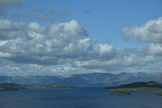 Lake Mosvatn,Skinnarbu,Telemark. View from Hardangervidda National Park Centre.