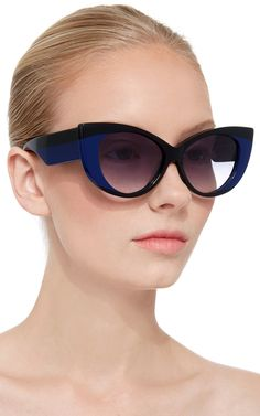 Etienne Cat Eye Sunglasses with Navy Lens by Jonathan Saunders Now Available on Moda Operandi