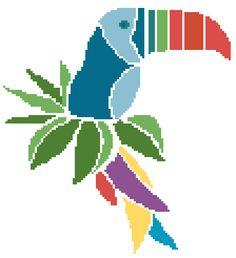 PARROT - PDF Cross Stitch Pattern. https://www.etsy.com/listing/198708821/modern-cross-stitch-pattern-pdf-chart?ref=shop_home_active_11