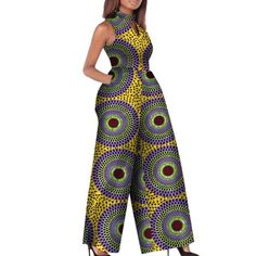 African Print Women Jumpsuit O-Neck Sleeveless Sexy Romper Wide Leg – Afrinspiration Source by karenvalere fashion dresses Long African Dresses, Latest African Fashion Dresses, African Print Dresses, Ankara Fashion, Short Dresses, African Inspired Fashion, African Print Fashion, Africa Fashion, Tribal Fashion