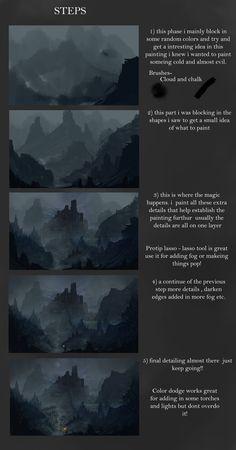 Fantasy Landscape V STEPS by Concept-Cube.deviantart.com on @deviantART