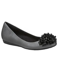 jeweled ballet flats in slate gray. love!